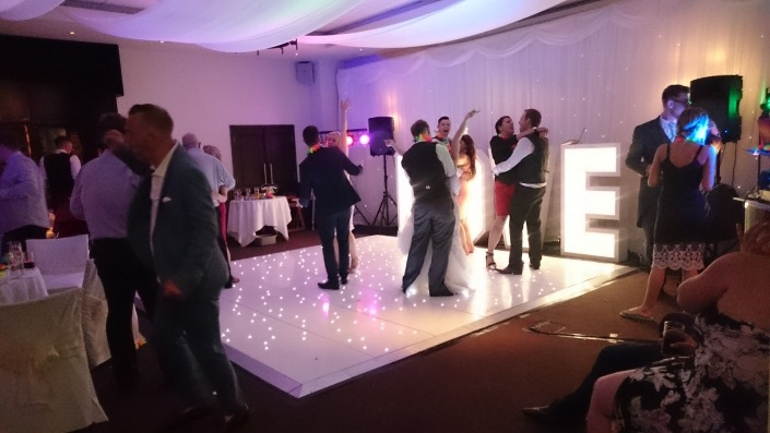 dancefloor hire at the devere new place wickham