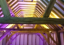 warnham barn west sussex uplighter hire