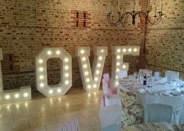 5ft LOVE at Upwaltham Barns