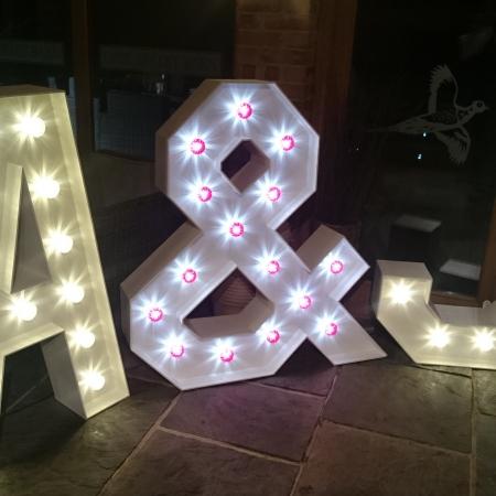 Gates Street Barn Bramley Individual Light Up Letter Hire 1