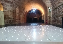 led dancefloor hire at explosion museum gosport hampshire