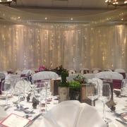 devere new place arden suite ceiling drapes swags backdrop 1