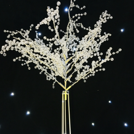 0.9 meter crystal tree white