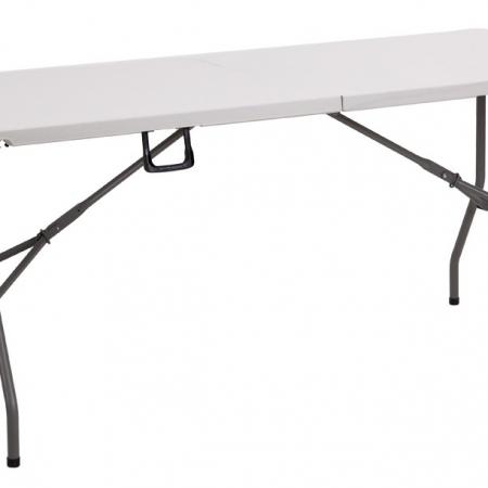 folding 6ft trestle table white