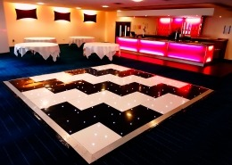 black and white led dancefloor zig zag stripes at butlins