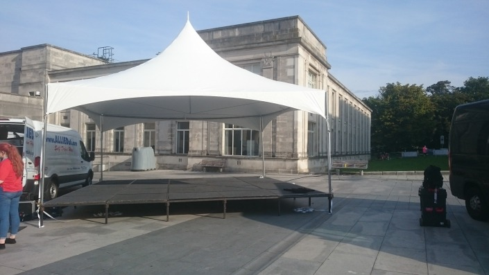 6m pagoda stage at southampton guildhall