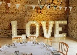 5ft Vintage LOVE at Upwaltham Barns