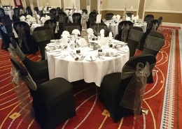 black chair covers grey sash portsmouth marriott
