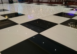 portsmouth marriott black and white dancefloor with white led middle