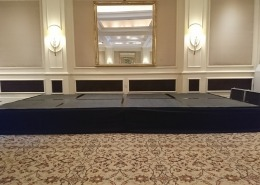 4 four seasons hotel black stage hire