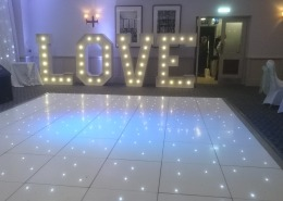 new place 5ft love backdrop white led dancefloor