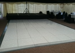 White LED Dancefloor at New Forest Balmer Lawn Brockenhurst