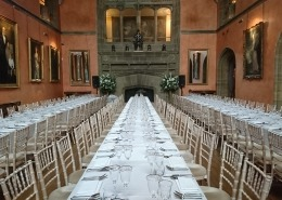 cowdray house banquet table chavari chairs