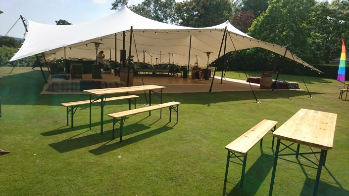 cowdray house picnic beer tables and stage hire