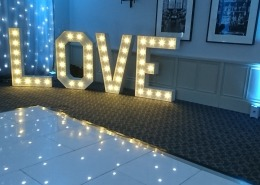 new place 4 ft love white led dancefloor and backdrop