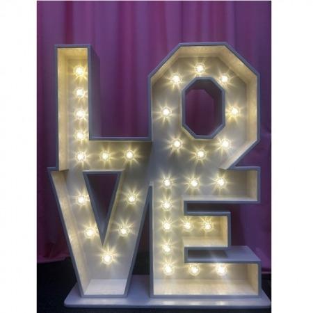 Square light up letter love block