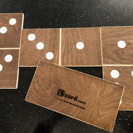 new wooden vintage handmad dominoes