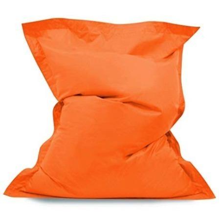 Large Orange Bean Bag Beanbag 140 x 91 cm cushion
