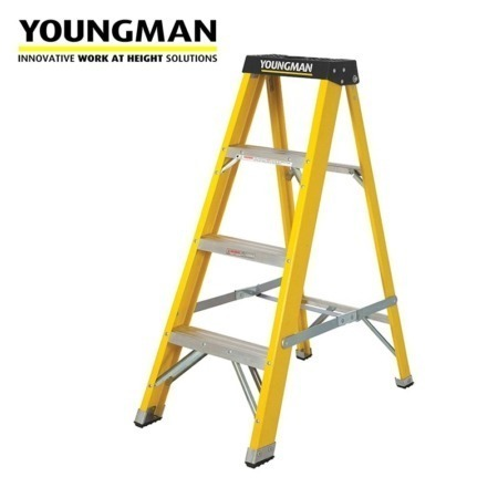youngman 4 tread s400 grp trade step ladder 800